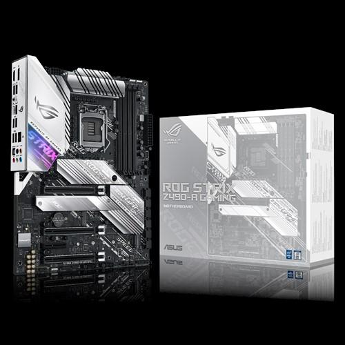 ASUS ROG STRIX Z490-A GAMING Intel Z490 10th Gen LGA1200 ATX MB DDR4, 1xDP 1xHDMI 6xUSB3.3 PCIe3.0x16, Aura Sync RGB