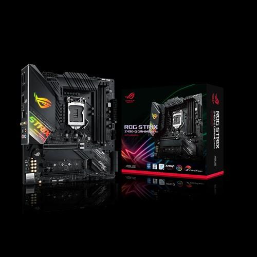 ASUS ROG STRIX Z490-G GAMING(WI-FI) Intel Z490 10th Gen LGA1200 mATX MB DDR4 WIFI6  1xDP 1xHDMI 1xPCIe3.0 6xUSB3.2 6xSATA 2xM.2, Aura Sync RGB