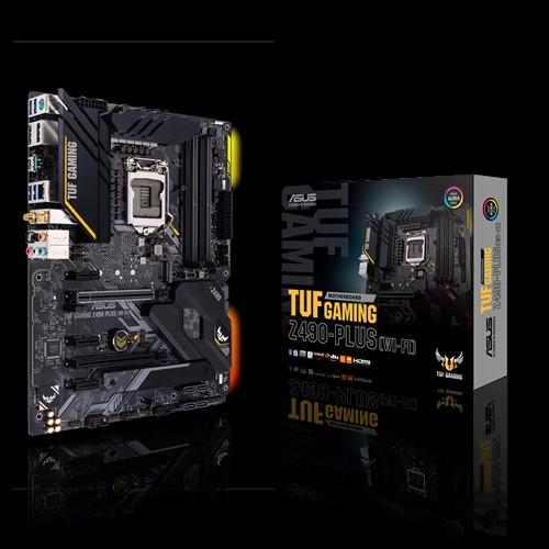 ASUS TUF GAMING Z490-PLUS (WI-FI) Intel Z490 10th Gen LGA1200 ATX MB DDR4 1xDP 1xHDMI 6xUSB3.2 PCIE3.0x16 6xSATA 2xM.2, WIFI6, Thunderbolt