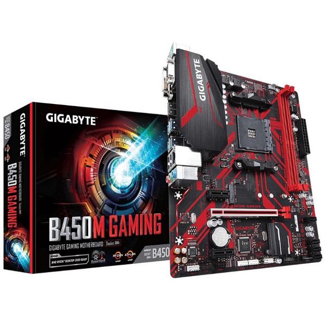 Gigabyte B450M GAMING AMD Ryzen Gen3 AM4 mATX 2xDDR4 3xPCIe HDMI 1xM.2 4xSATA RAID GbE LAN 6xUSB3.1 6xUSB2.0 RGB ~GA-B450M-DS3H
