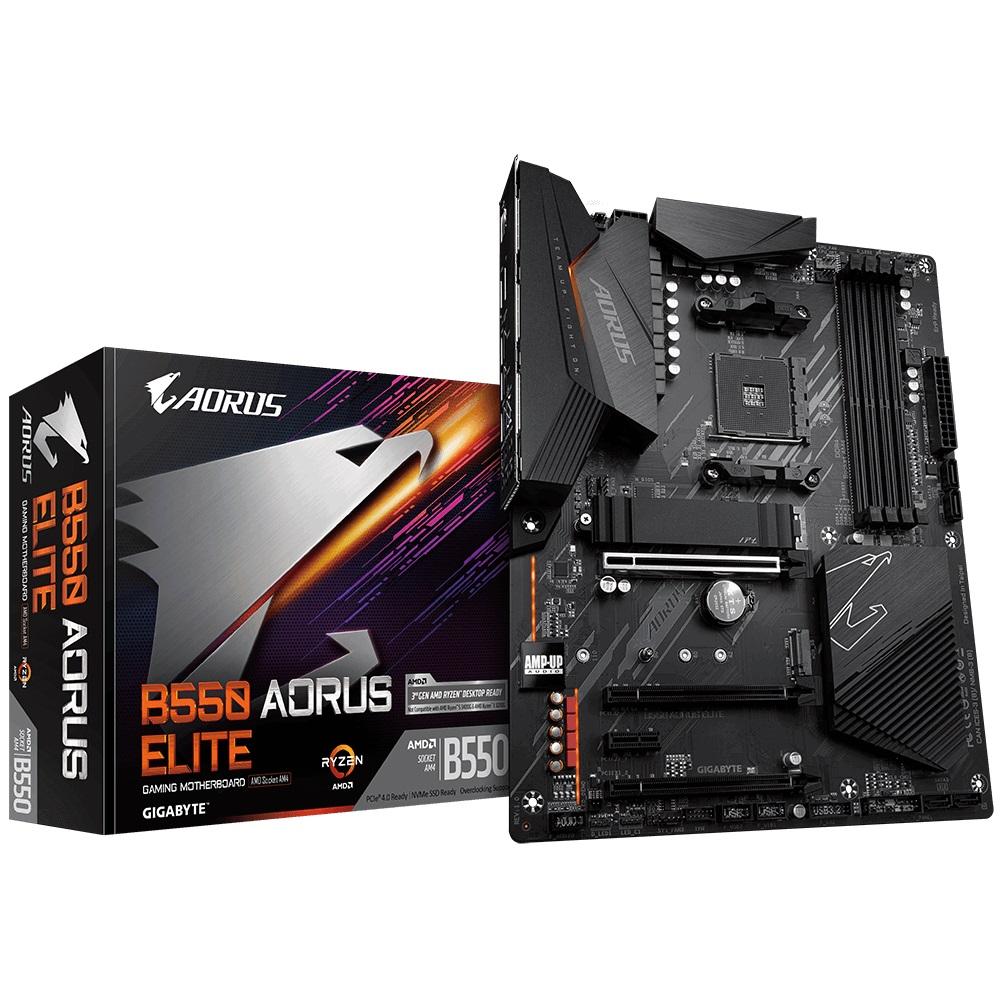 Gigabyte B550 AORUS ELITE AMD Ryzen ATX Motherboard 4xDDR4 4xSATA 2xM.2 DP HDMI LAN RAID 3xPCIEx16 4xUSB3.2