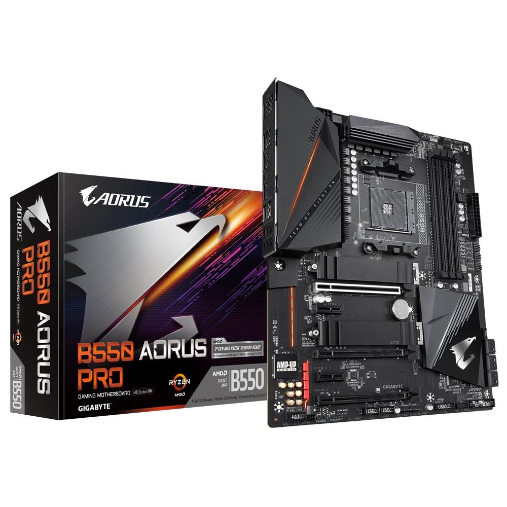 Gigabyte B550 AORUS PRO AMD Ryzen ATX Motherboard 4xDDR46xSATA 2xM.2 HDMI LAN RAID 3xPCIEx16 2xPCIEx1 4xUSB3.2 1xUSB-C