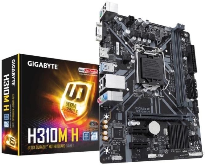 Gigabyte GA-H310M H V2.0 LGA1151 8Gen mATX MB 2xDDR4 3xPCIe VGA HDMI 4xSATA3 GbE LAN 4xUSB3.1 6xUSB 2.0