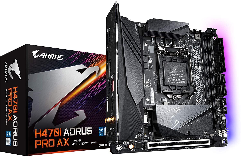 Gigabyte H470 I AORUS PRO AX ATX Motherboard 4xDDR4 10th Gen LGA1200 2xM.2 6xSATA RAID 2.5GbE LAN WiFi 6 BT CrossFire DP HDMI USB-C RGB