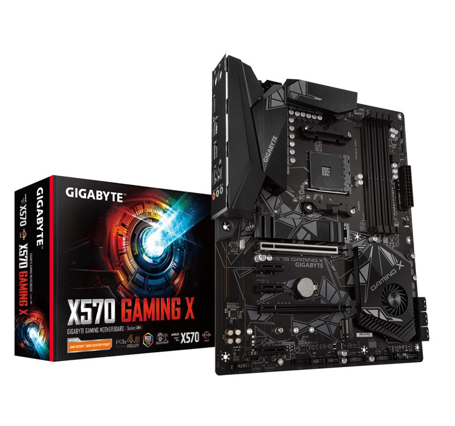 Gigabyte X570 GAMING X Ryzen AM4 ATX Motherboard 4xDDR4  Dual PCIe 4.0,M.2 RAID GbE LAN CrossFire RGB 6xUSB2.0/1.1 8xUSB3.2