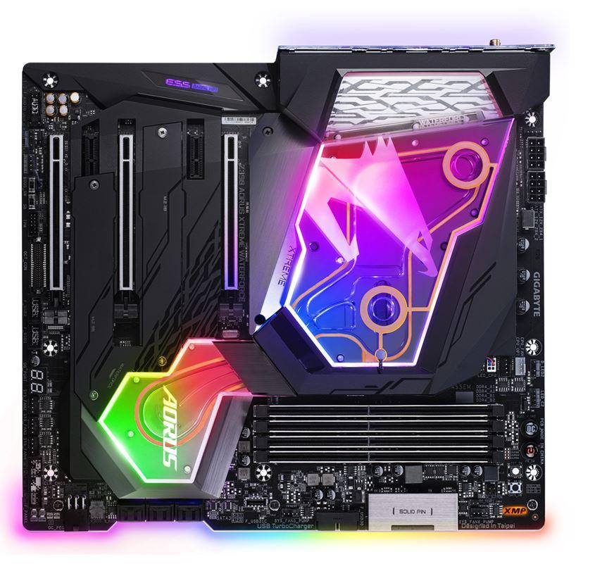 Gigabyte Z390 AORUS XTREME WATERFORCE  LGA1151 9Gen E-ATX 4xDDR4 PCI-E 3.0 HDMI 3xM.2 2xGigabit LAN 2xUSB-C 8xUSB3.1 RGB Dual-band Wireless 802.11ac
