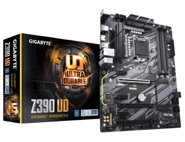 Gigabyte Z390 UD LGA1151 9Gen ATX MB 4xDDR4 6xPCIe HDMI 1xM.2 6xSATA RAID Realtek GbE LAN CF 8xUSB3.1 2xUSB2.0 RGB