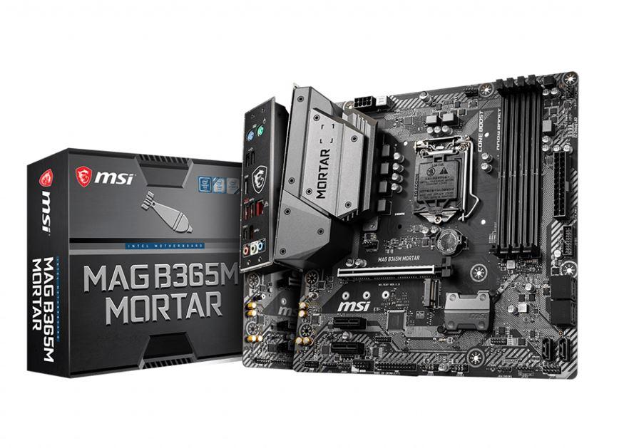 MSI B365M MORTAR mATX Motherboard LGA1151 9Gen 4xDDR4 3xPCI-E, 1xTurbo M.2, 6xUSB3.1, 6xUSB2.0 1xHDMI ~B360M MORTAR