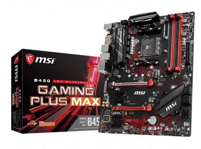 MSI B450 GAMING PLUS MAX AM4 Ryzen ATX Motherboard 4x DDR4 6xPCIE 1xM.2 DVI-D HDMI RAID LAN 6xSATAIII 6xUSB3.2 6xUSB2.0
