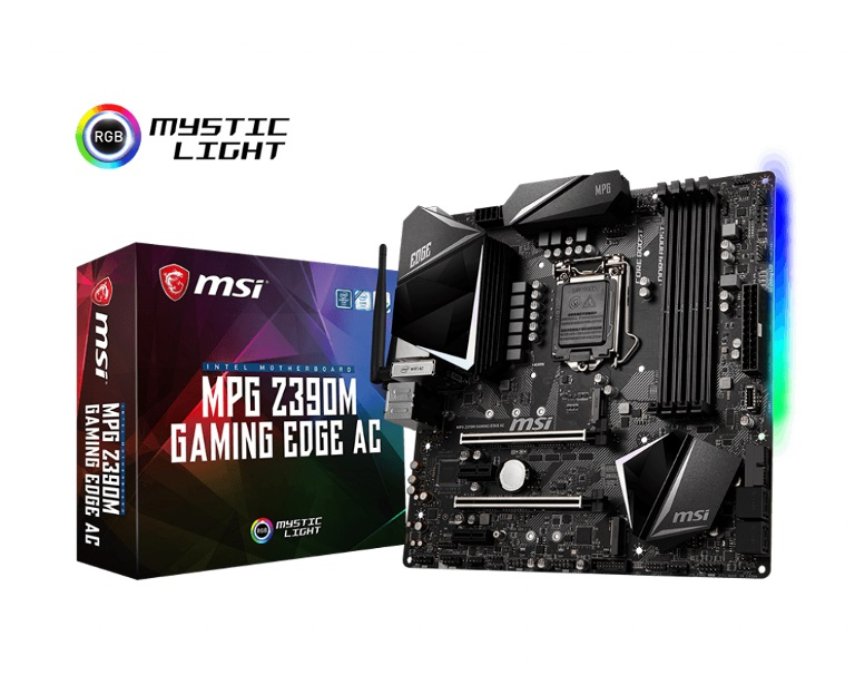 MSI Z390M GAMING EDGE AC MOTHERBOARD Intel 9th Gen Socket 1151 4x 4500MHz DDR4 (OC), PCI-E 3.0, 4x SATA3, 2x M.2 slots, 3x USB 3.1 Gen2
