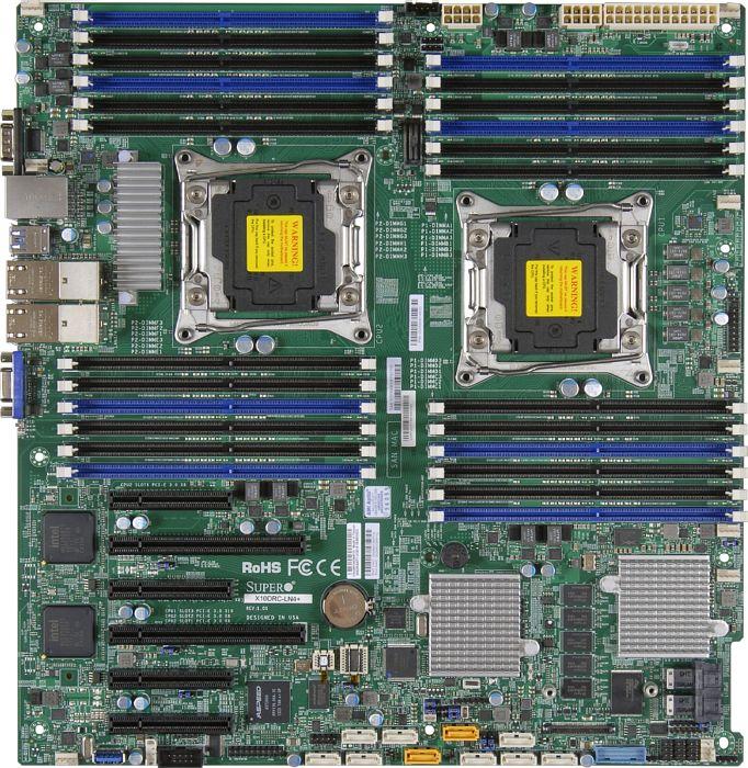 Supermicro DP E5-2600 v3/v4, 24x DDR4 RECC,  SAS3 via LSI3108, 4xGbE, C612, 2x PCIe x 16, E-ATX