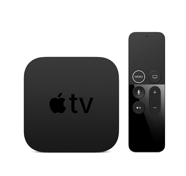 Apple TV 4K 32GB- Apple TV 4K with Siri Remote, Power cord, Lightning to USB Cable, Dolby Digital Plus 7.1 Sound, A10X Fusion chip, Ultrafast Graphics
