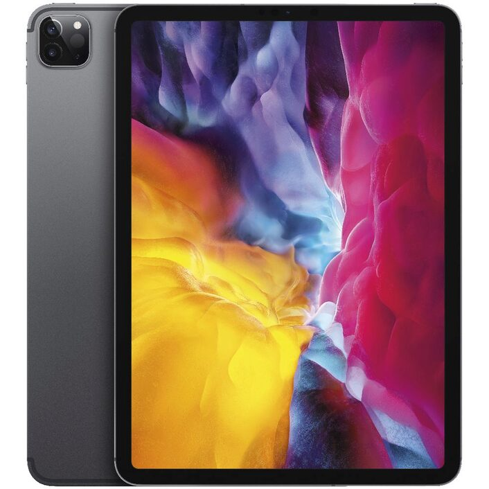 Apple iPad Pro 11 inch (2nd Gen) Wi-Fi + Cellular 128GB - Space Grey- Apple  iPad with 11' Retina Display, iOS 13, 128GB inbuilt memory, Dual Camera