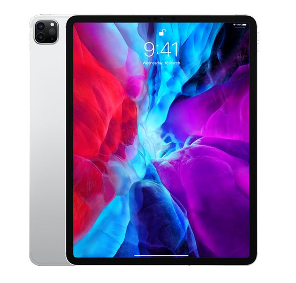 Apple iPad Pro 12.9 inch (4th Gen) Wi-Fi + Cellular 512GB- Silver - iPad with 12.9' Retina Display, iOS 13, A12Z Bionic Chip 512GB memory, Dual Camera