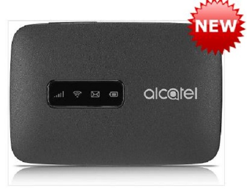 Unlocked Alcatel Linkzone 4G CAT4 Broadband Black- Processor- Qualcomm, Memory 256MB NAND Flash, 128MB LPDDR2