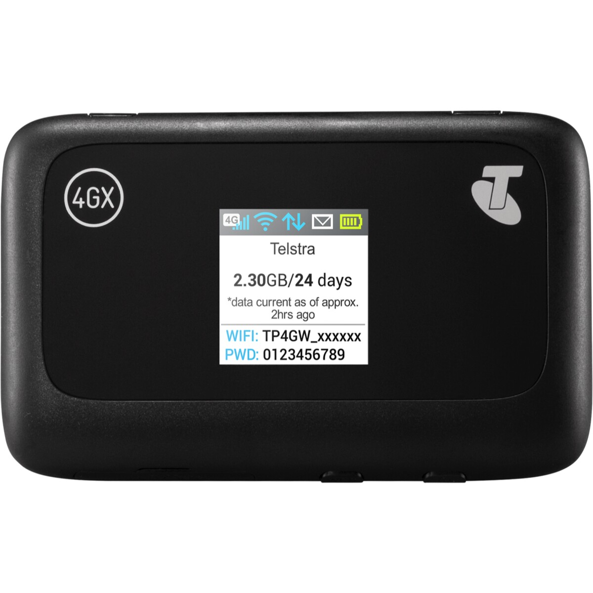 Telstra Pre-Paid 4GX Wi-Fi Plus - DEVICE, SIM + 5GB DATA, Data-free sports streaming, Connect up to 10 Wi-Fi enabled devices