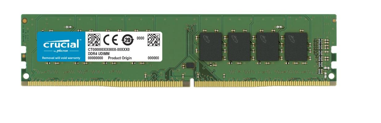 Crucial 8GB (1x8GB) DDR4 UDIMM 3200MHz CL22 DR x8 Single Stick Desktop PC Memory RAM