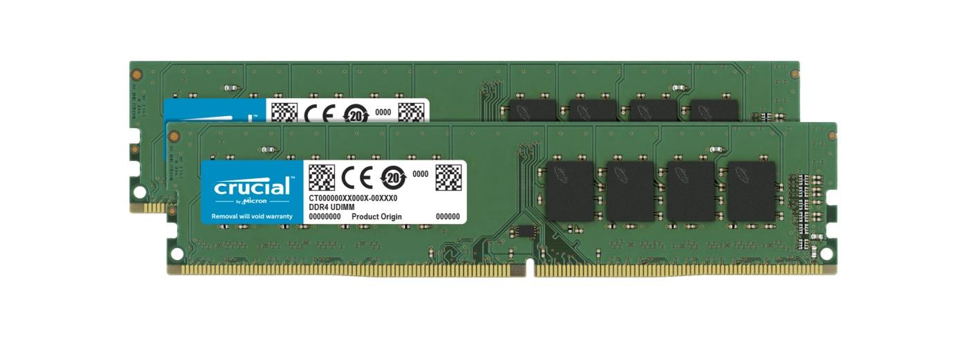 Crucial 32GB (2x16GB) DDR4 UDIMM 3200MHz CL22 DR x8 Dual Channel  Desktop PC Memory RAM