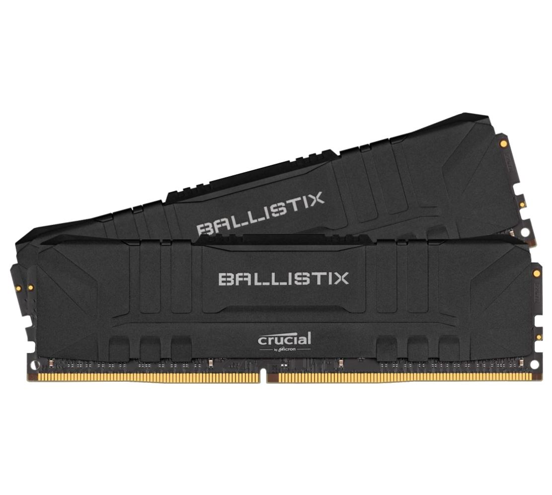 Crucial Ballistix 8GB (2x4GB) DDR4 UDIMM 2400MHz CL16 Black Aluminum Heat Spreader Intel XMP2.0 AMD Ryzen Desktop PC Gaming Memory