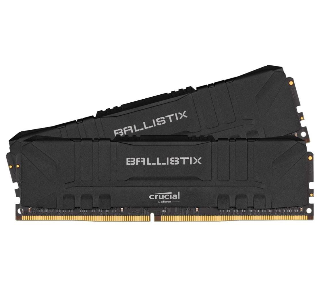 Crucial Ballistix 16GB (2x8GB) DDR4 UDIMM 3200MHz CL16 Black Aluminum Heat Spreader Intel XMP2.0 AMD Ryzen Desktop PC Gaming Memory