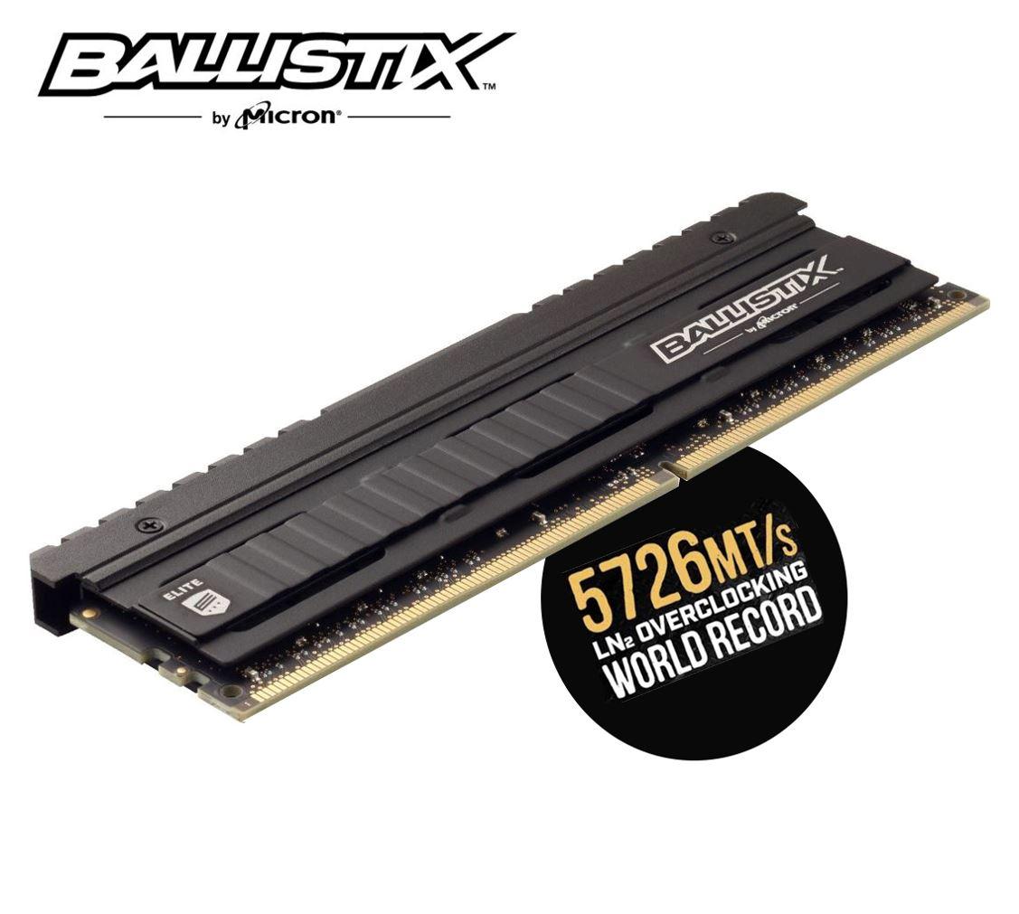 Crucial Ballistix Elite 8GB (1x8GB) DDR4 UDIMM 3600MHz CL16 16-18-18 1.35V Black Heat Spreader AMD Ryzen Intel XMP2.0 PC Desktop Gaming Memory RAM
