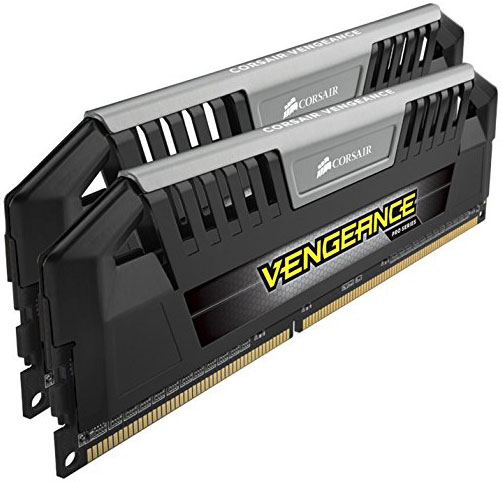Corsair Vengeance Pro 16GB (2x8GB) DDR3 1600MHz C9 Desktop Gaming Memory Silver