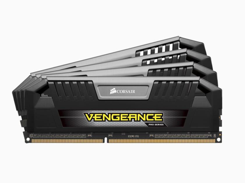 Corsair Vengeance Pro 32GB (4x8GB) DDR3 1600MHz C9 Desktop Gaming Memory Black