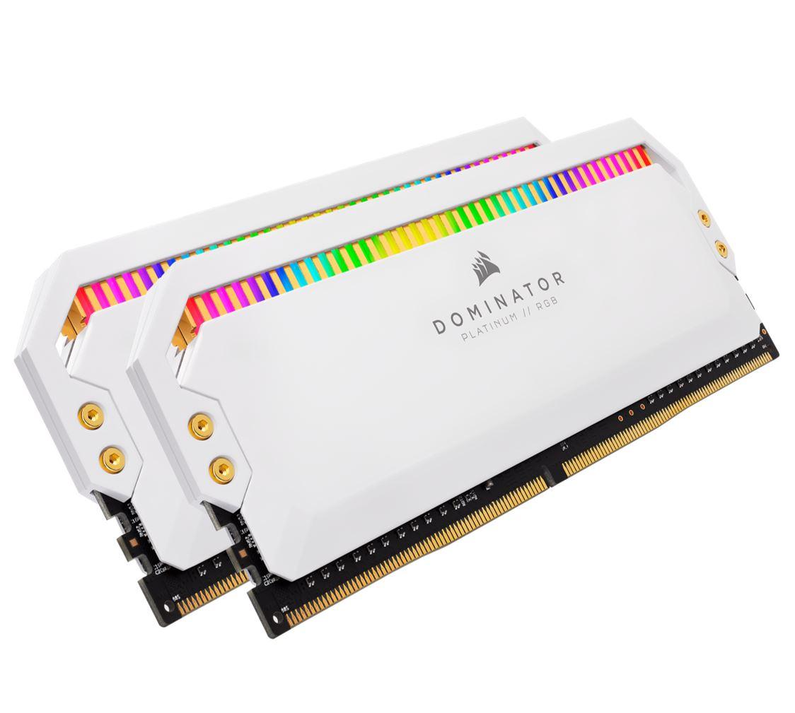 Corsair Dominator Platinum RGB 16GB (2x8GB) DDR4 4000MHz C19 1.35V UDIMM XMP 2.0 White Heatspreaders Desktop PC Gaming Memory