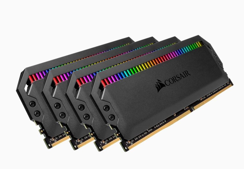 Corsair Dominator Platinum RGB 64GB (4x16GB) DDR4 3466MHz C16 DIMM Unbuffered 16-18-18-36 XMP 2.0 Black Heatspreaders 1.35V Desktop PC Gaming Memory