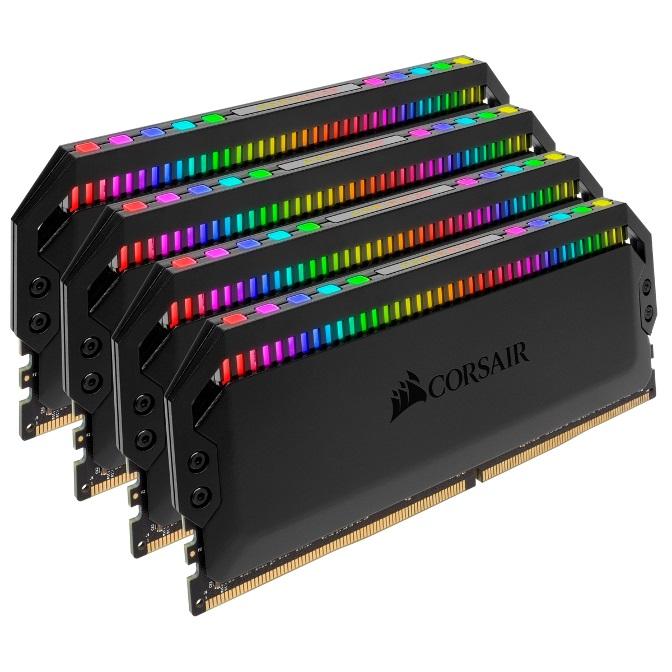 Corsair Dominator Platinum RGB 32GB (4x8GB) DDR4 3000MHz CL15 DIMM Unbuffered 15-17-17-35 XMP 2.0 Black Heatspreaders 1.35V Desktop PC Gaming Memory