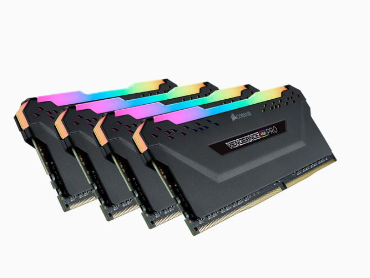 Corsair Vengeance RGB PRO 32GB (4x8GB) DDR4 3200MHz C16 Desktop Gaming Memory