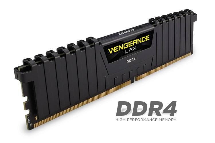 Corsair Vengeance LPX 8GB (1x8GB) DDR4 2400MHz 1.2V C14 14-16-16-31 Black Desktop Memory