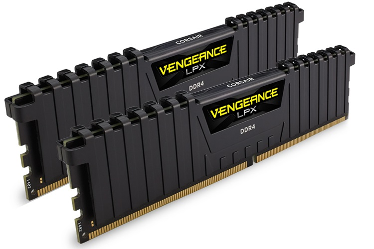 Corsair Vengeance LPX 8GB (2x4GB) DDR4 2400MHz C14 Desktop Gaming Memory Black