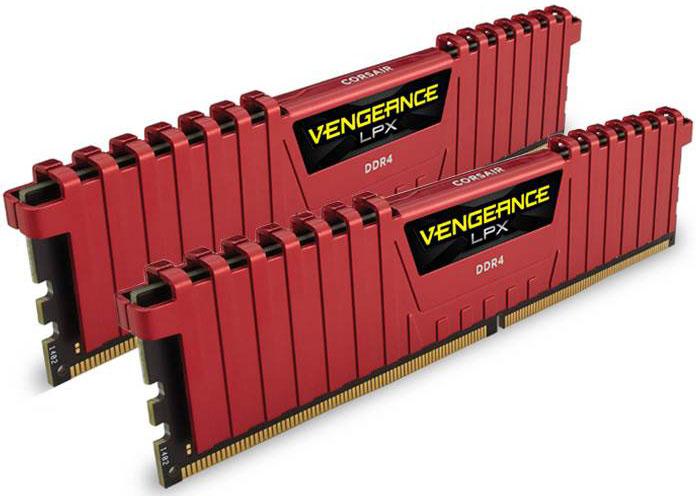Corsair Vengeance LPX 16GB (2x8GB) DDR4 2133MHz C13 Desktop Gaming Memory Red LS