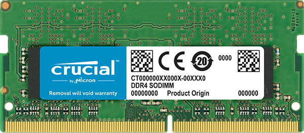 Crucial 16GB (1x16GB) DDR4 SODIMM 2666MHz CL19 Single Stick Notebook Laptop Memory RAM