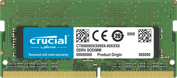 Crucial 32GB (1x32GB) DDR4 SODIMM 2666MHz CL19 1.2V PC4-21300 Dual Ranked Single Stick Notebook Laptop Memory RAM