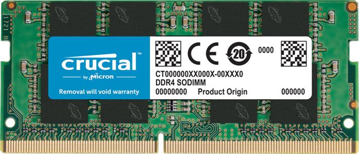 Crucial 8GB (1x8GB) DDR4 SODIMM 2666MHz CL19 Single Stick Notebook Laptop Memory RAM