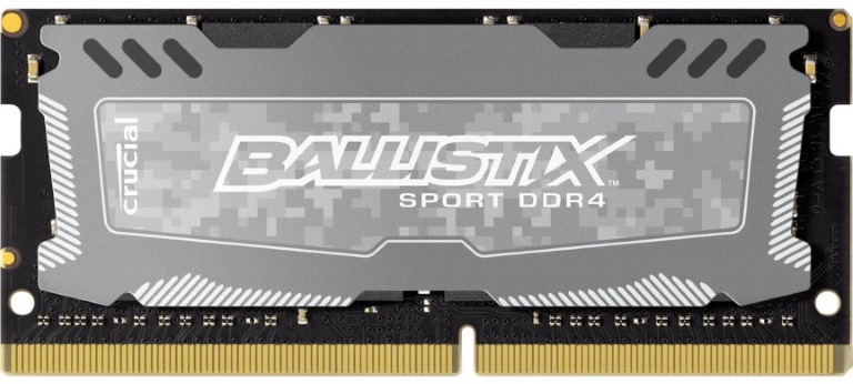 Crucial Ballistix Sport LT 16GB (1x16GB) DDR4 SODIMM 2666MHz C16 Gaming Memory for Notebook Laptop Grey Color