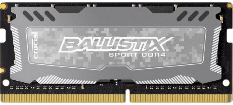 Crucial Ballistix Sport LT 8GB (1x8GB) DDR4 SODIMM 2666MHz C16 Gaming Memory Grey (LS)