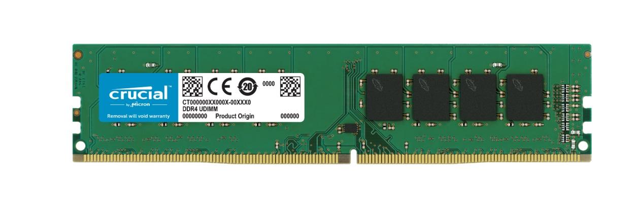 Crucial 32GB (1x32GB) DDR4 UDIMM 2666MHz CL19 1.2V Dual Ranked DRx8 Desktop PC Memory RAM