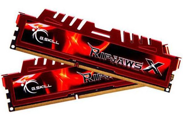 G.SKILL RipjawsX 8GB (2x4GB) DDR3 1600Mhz C9 1.5V Gaming Memory