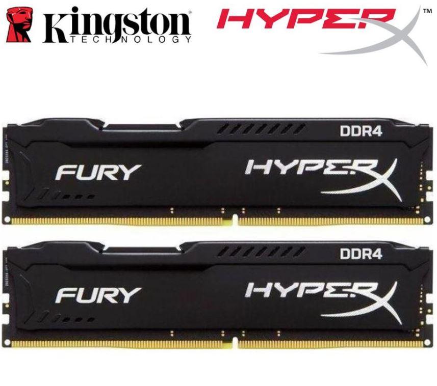 Kingston HyperX Fury 16GB (2x8GB) DDR4 UDIMM 2666MHz CL16 1.2V Unbuffered ValueRAM Double Stick Kit Gaming Desktop PC Memory ~HX426C16FB2K2/16