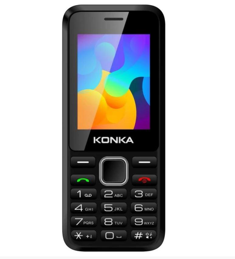 Konka FP8 Black- 2.4' QVGA LCD Display, Dual SIM 3G/3G, 1,200mAH Long Life Battery, 64MB RAM, 128MB Inbuilt Memory exp to 8GB, 3G Tri Band, VGA Camera