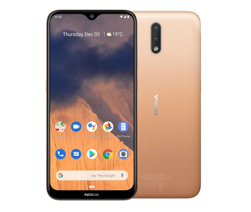 Nokia 2.3 4G 32GB 6.2' Screen Sand - 6.2' Screen, 2GB RAM, Android 9 Pie, 32GB Storage Exp up to 512GB, Dual Camera, 4000mAh battery