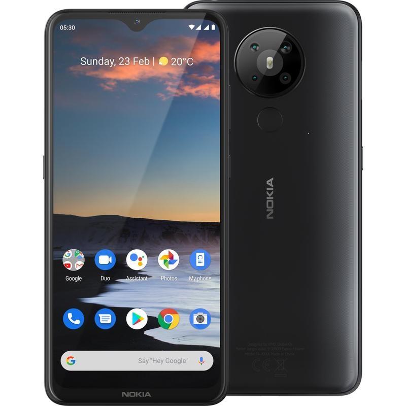 Nokia 5.3 4G Dual Sim 64GB  Screen Charcoal  - 6.55' Screen, 4GB RAM, Android 10,CPU Qualcomm® Snapdragon™ 665, Quad camera,4000 mAh Battery