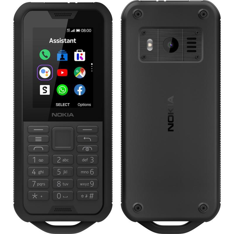 Nokia 800 4G Tough Black- 2.4' Screen, Internal memory 4GB Exp memory upto 32GB,KaiOS,Qualcomm® 205 Mobile Platform, 2MP Rear Camera, 2100 mAh Battery