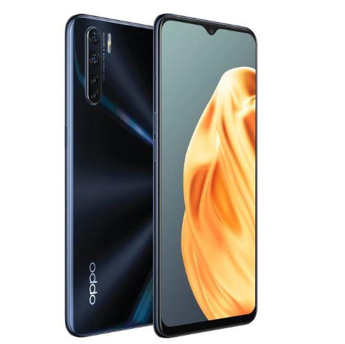 Oppo A91(Mona) 4G Dual Sim 128GB Lightening Black - 6.4' AMOLED Screen, Mediatek Helio Processor,Quad Camera,128GB Inbuilt Memory exp to 256GB