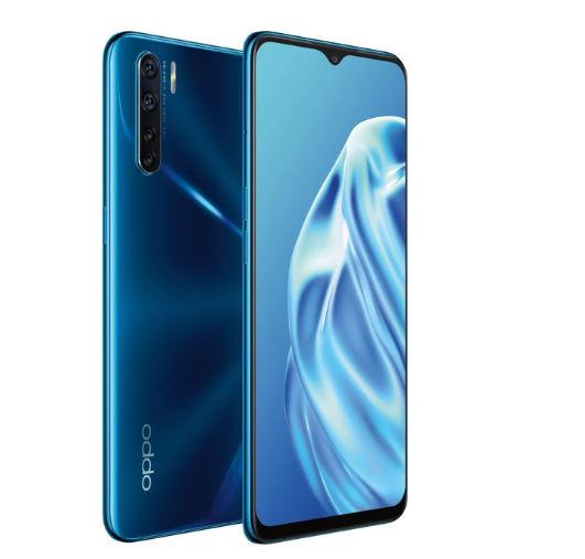Oppo A91(Mona) 4G Dual Sim 128GB Blazing Blue - 6.4' Screen, Mediatek Helio Processor,16MP selfie camera,128GB Inbuilt Memory exp to 256GB