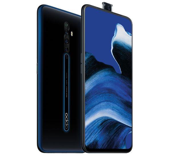 Oppo Reno2 Z 4G Dual Sim 128GB Luminous Black -  6.5'AMOLED Screen, Quad Camera,128GB Inbuilt Memory exp to 256GB ,Battery capacity 4000 mAh