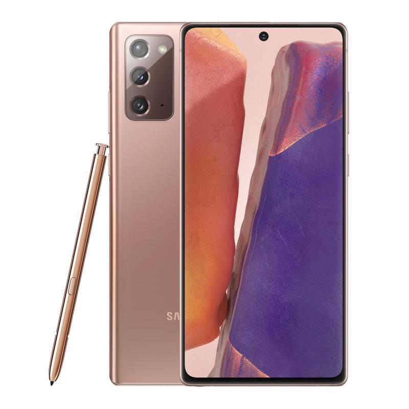Samsung Galaxy Note20 4G 256GB Mystic Bronze - 6.7' Super AMOLED+ Display, Tri Camera, 8GB RAM, 256GB ROM, Exynos 990 Octa Processor, Android 10